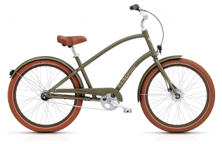 Electra Townie Balloon 7i EQ Mens Matte Khaki