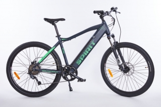 Elektrokolo MTB II 27,5 black/green, integr. bat. 17 Ah (2019)